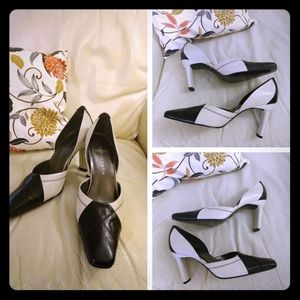 New Cute Black and White 4 in. heels by Apostrophe